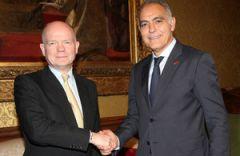 Hague ha incontrato a Londra con la nuova nomina marocchino ministro degli Esteri Salaheddine Mezouar