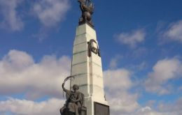The Battle of the Falklands monument in Stanley