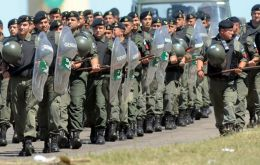 Capitanich has already sent gendarmerie forces to Santa Fe, Cordoba and Catamarca