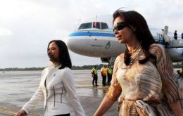 The president normally flies to her private residence in Santa Cruz over weekends or long holidays