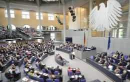 The Merkel government will have 504 out of 631 seats in the Lower House