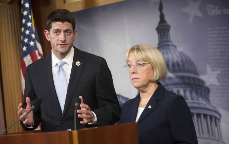The agreement was worked out by Republican Paul Ryan and Democrat Senator Patty Murray
