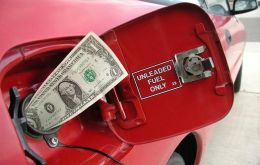 Fill her up twice, at 2 cents the liter...