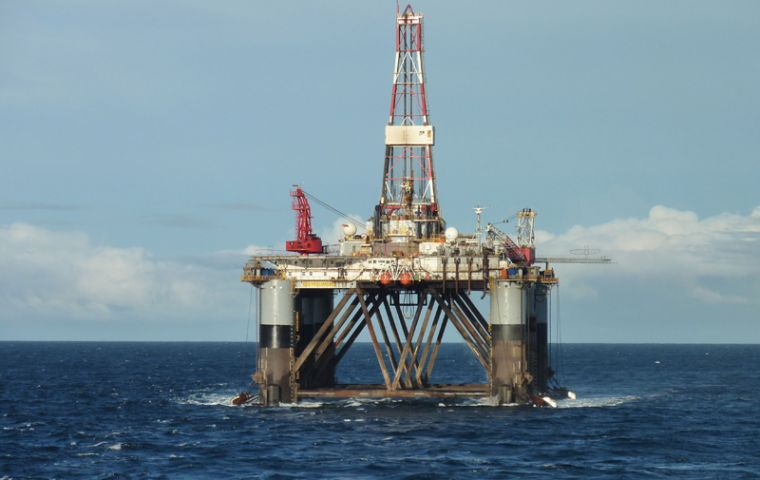 The rig Ocean Guardian hit oil at the Sea Lion prospect in 2010
