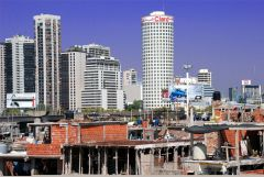 One of many shanty towns ('misery villages') in Argentine main cities including downtown Buenos Aires