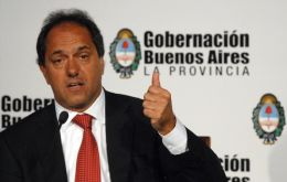 All points towards Buenos Aires province Governor Daniel Scioli.