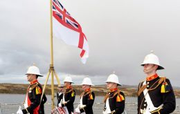 Members of HMS Richmond during the parade