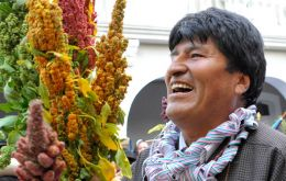 "Morales: ""Our quinoa has been discovered worldwide as an ally in the fight against hunger"""