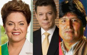 Dilma, Santos, Morales, running for re-election