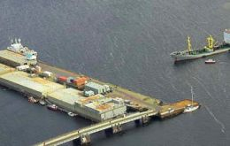 The location of the 400x100 feet floating dock would be to the east of FIPASS