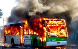 The twelve homicides on the same night were followed by the torching of three buses and a private car