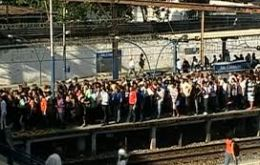 Broadcasts showed seas of people packed onto narrow train platforms and forming long lines at bus terminals