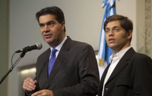 Capitanich and Kicillof said the Peso reached a 'convergence level' under a policy of 'managed flotation'