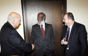 OAS Secretary General Insulza with the two foreign ministers