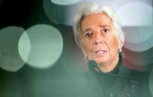 However the outlook for the global economy looked 'generally positive' said the IMF head (Photo AP)