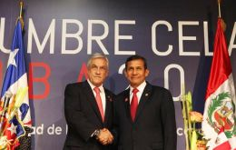 Piñera and Humala made a display of unity and appeasement