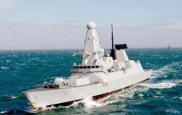 HMS Diamond is expected on Sunday for a whole week visit