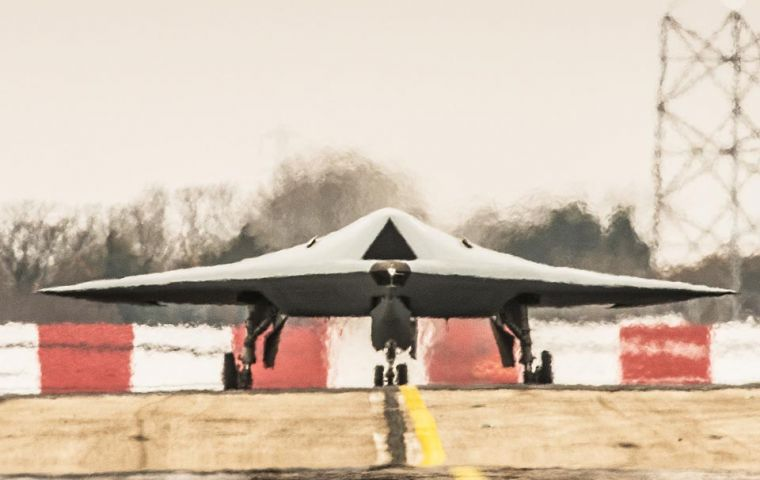Taranis taxing at BAE Systems in Warton, Lancashire [Picture: Ray Troll, BAE Systems]