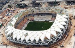 Amazonia Arena should have been completed in December according to FIFA