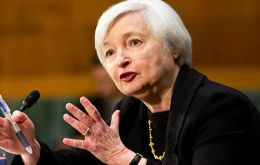It was Yellen's first public comments as Fed chief