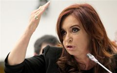 Cristina Fernandez blasting 'corporations and speculation groups' in Argentina