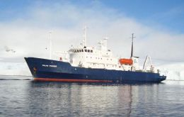 M/V Polar Pioneer from Aurora Expeditions was involved in the exercise
