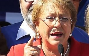 """...My greatest rejection of (President) Nicolas Maduro. You do not attack the people"", said Bachelet"