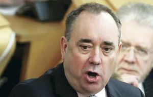PM Salmond said it was 'hardly huge news', and argued an independent Scotland would pay lower rates