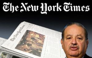 Carlos Slim, among the world's richest extended the NYT a 250m dollars loan in 2009