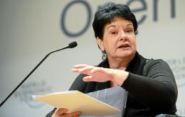 "Based on current data ""more than 4.000 workers will die before a ball is kicked in 2022"" said Sharan Burrow"