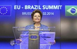 The Brazilian president made the announcement in Brussels during the EU/Brazil summit