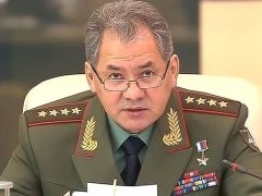Defense minister Shoigu made the announcement