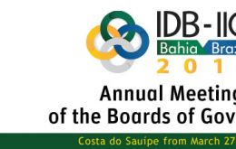 The two-day event will mark the 55th annual meeting of the IDB Board of Governors