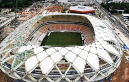 The Arena da Amazonia will host four matches in June, including England vs. Italy and United States vs. Portugal