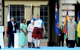 The baton relay will be passing through the 70 countries and territories whose teams will gather for the Games in July