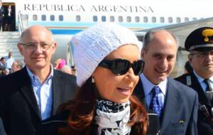 The Argentine president made the comments in Italy