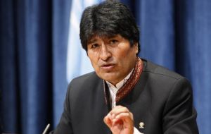 The adhesion protocol was sent to Congress by president Evo Morales last September