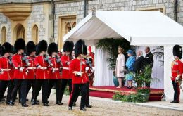The impressive display at Windsor Castle by the Queen to receive the Irish president
