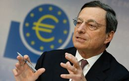 Draghi hinted that QE, the large-scale purchase of financial assets, may be needed
