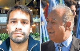 Former minister Puricelli  and his son (L) and advisor, Alejandro are under investigation