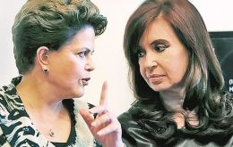 Cristina Fernandez had to cancel a trip to Sao Paulo to open the Argentina House because Dilma could not attend