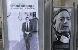 The exhibit praises Kirchner as one of the greatest Argentine leaders of recent times