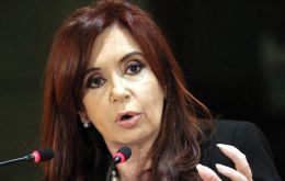 """We are in a trade war"" Cristina Fernandez said in announcing the measure"