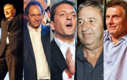 Binner, Scioli, Massa, Cobos, Macri , one of them will possibly replace Cristina Fernandez when she steps down in December 2015