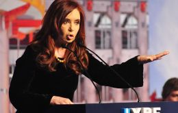 Cristina Fernandez anticipated that with YPF under government control Argentina will be hydrocarbons self-sufficient by 2019