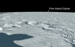 BAS marked the iceberg with a total of 37 GPS tracking devices earlier during the year (Pic NASA)
