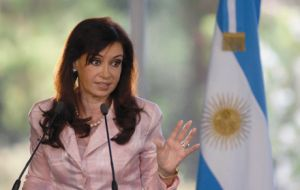 Argentina's Cristina Fernandez is forecasted to expand 1%