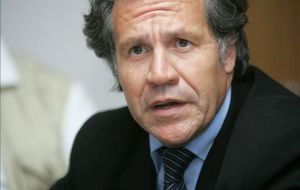 Minister Almagro committed by writing Uruguay's interest and acceptance of the negotiations' results