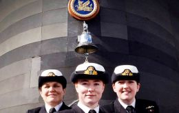Left to right: Lieutenants Maxine Stiles, Alex Olsson and Penny Thackray