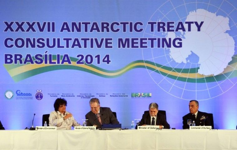 The Antarctic Treaty Consultative Meeting delegates in Brasilia also backed the IMO 'polar code' draft